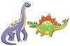 Paar lustige Dinosaurier