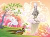 Pegasus und mythologische Landschaft