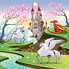 Pegasus, Einhorn und Drachen in mythologischen