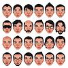 ID 3511527 | Awatar, mężczyźni `s portrety | Klipart wektorowy | KLIPARTO