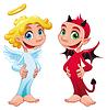 Baby-Engel und Teufel