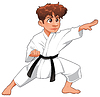 Junge-Karatekämpfer