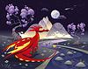 ID 3519318 | Drachen in der Landschaft in der Nacht | Stock Vektorgrafik | CLIPARTO