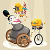 ID 3519627 | Frau mit Kanonen und Dackel im Zirkus | Stock Vektorgrafik | CLIPARTO