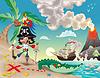 Pirat auf der Insel