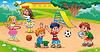 Kids auf dem Spielplatz