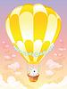 Heißluftballon mit weißer Hase
