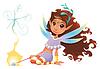 Fairy Mädchen mit Zauberstab