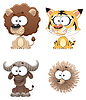 Vector clipart: Funny Animal of Africa