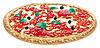 Пицца, итальянская кухня | Векторный клипарт