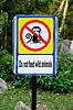 Nie karmić dzikich zwierząt znak | Stock Foto