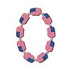 Nummer 0 von USA-Flaggen in Form von Süßigkeiten gemacht
