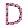 Letter D aus USA-Flaggen