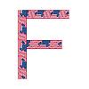 Buchstabe F von USA-Flaggen gemacht