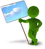 Ökologie Schutz - glänzend himmel | Stock Illustration