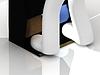 3D Mensch und Maschine für die Reinigung von Schuhen | Stock Illustration