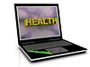 HEALTH message on laptop screen | Stock Illustration