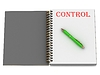 CONTROL inscription on notebook page | Stock Illustration