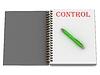 KONTROLLE - Inschrift auf Notizbuch-Seite | Stock Illustration
