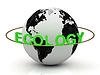 EKOLOGIA zielonymi literami napis | Stock Illustration