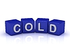 COLD word on blue cubes | Stock Illustration