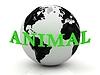 ID 3595489 | ANIMAL Abstraktion Inschrift um die Erde | Illustration mit hoher Auflösung | CLIPARTO