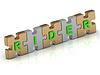 ID 3595706 | RIDER Wort gold puzzle | Illustration mit hoher Auflösung | CLIPARTO