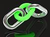 Zwei Einheiten sind durch Stahl Kettenglied grünen verbunden | Stock Illustration
