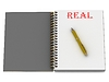 REAL Wort auf Notebook-Seite | Stock Illustration