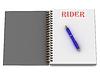ID 3602007 | RIDER Wort auf Notebook-Seite | Illustration mit hoher Auflösung | CLIPARTO