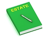 ESTATE Namen cover book | Stock Illustration