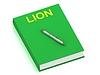 ID 3602185 | LION name on cover book | Stockowa ilustracja wysokiej rozdzielczości | KLIPARTO