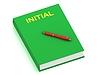 ID 3602465 | INITIAL name on cover book | Stockowa ilustracja wysokiej rozdzielczości | KLIPARTO