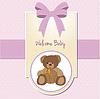Baby Welcome Card mit Teddybär