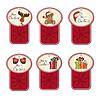 Weihnachten Etiketten Set