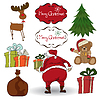 Christmas elements set isolated on white background | Stock Vector Graphics