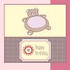 Geburtstagskarte mit teddy