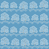 Bäume im Winter seamless pattern (Abstract Saison