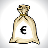 Money bag with euro sign | Stock Vector Graphics