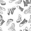 Fashion Hintergrund mit weiblichen Schuh