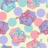 Nahtlose Muster mit Geschenk-Boxen. Textur