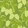 Hop Ornament On Green Grunge Background,