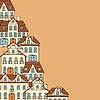 Stadt-Skizze mit Häusern