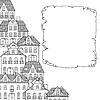 Stadt Skizze, Häuser Hintergrund für Ihr Design