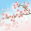 stilisierte Kirschblüte