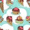 Urlaub nahtlose Muster von süß, Kuchen und
