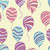 Nahtlose Muster von Ballons,