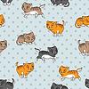 Nahtloses Muster mit lustigen Katzen