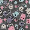 Schädel und Herzen - seamless pattern