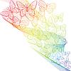 Kolorowe tło grunge z Motyle | Stock Vector Graphics